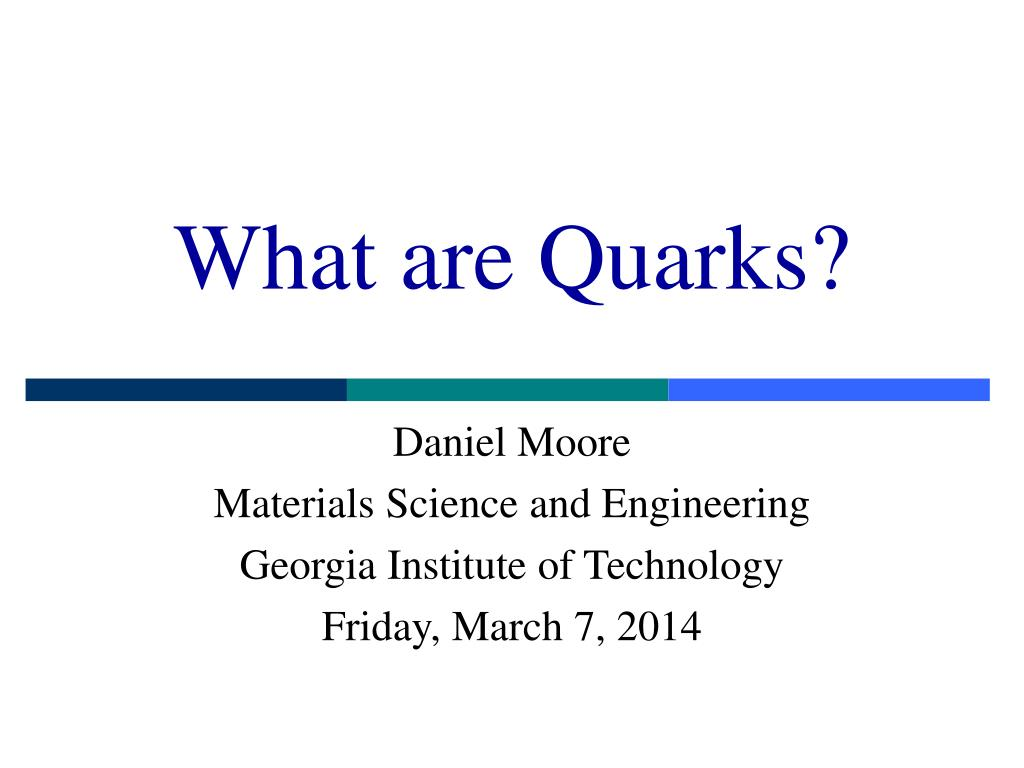 what are quarks l.
