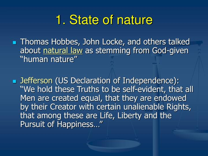 1 state of nature