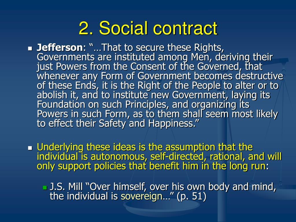 2. Social contract