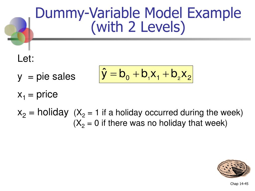 Dummy-Variable Model Example  (with 2 Levels)