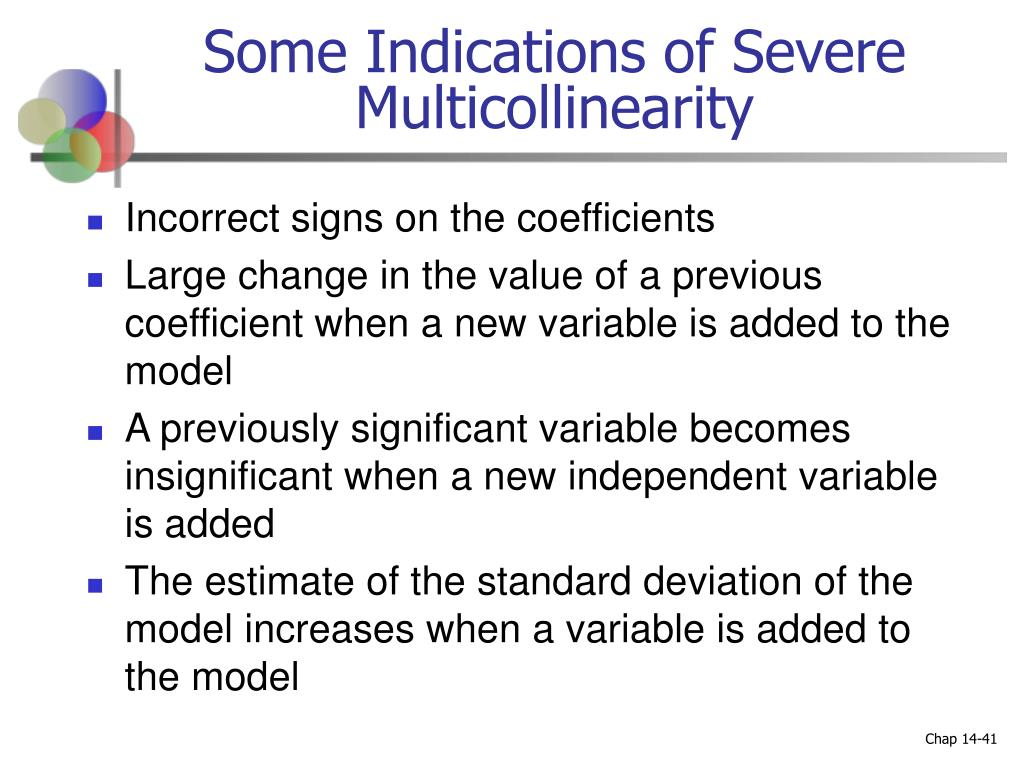 Some Indications of Severe Multicollinearity
