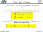 fourier discrete functions