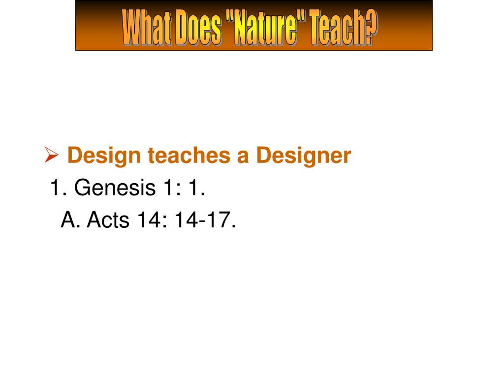 "What Does ""Nature"" Teach?"