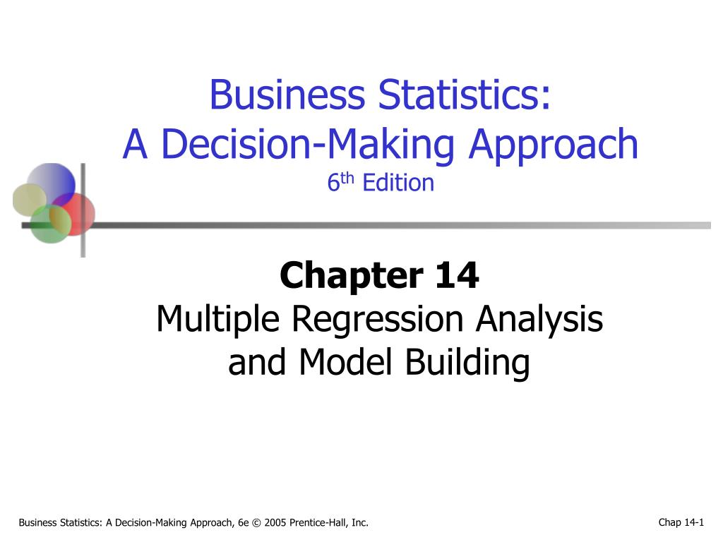 chapter 14 multiple regression analysis and model building l.