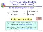 dummy variable models more than 2 levels48