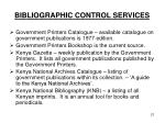 bibliographic control services
