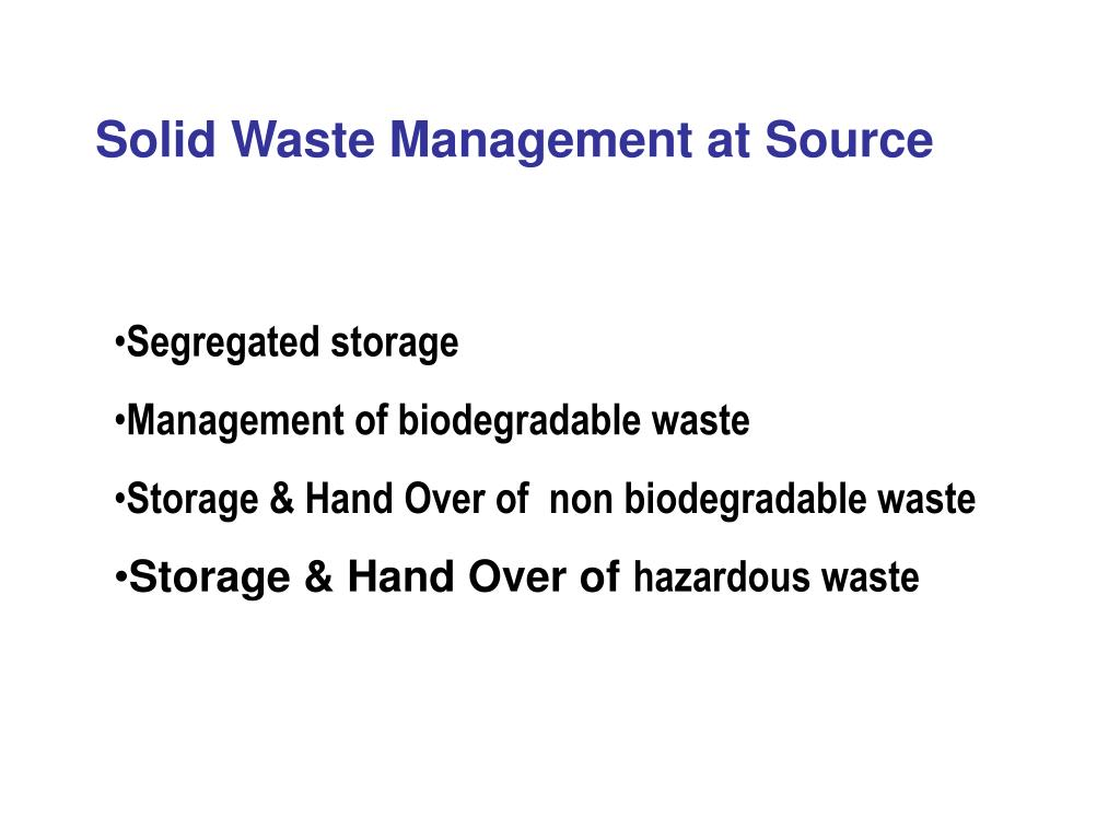 Solid Waste Management at Source