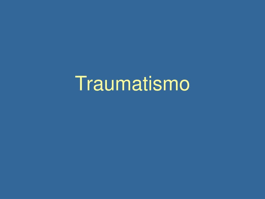 traumatismo l.