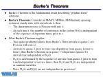 burke s theorem