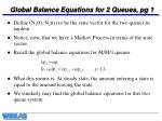 global balance equations for 2 queues pg 1