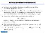 reversible markov processes