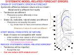 systematic model related forecast errors