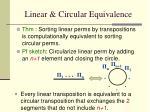 linear circular equivalence