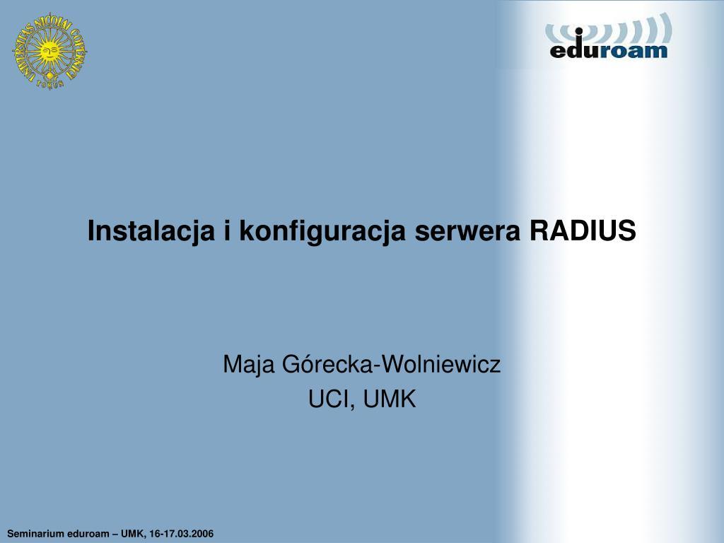 instalacja i konfiguracja serwera radius l.