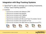 integration with bug tracking systems