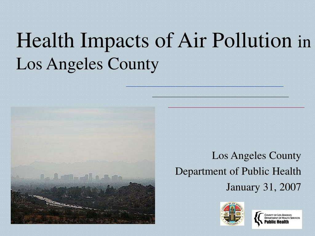 health impacts of air pollution in los angeles county l.