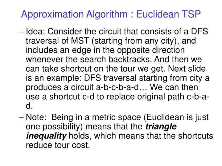 Approximation algorithm euclidean tsp3
