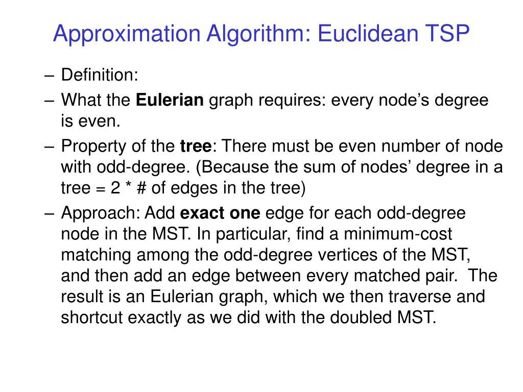 Approximation Algorithm: Euclidean TSP