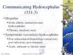 communicating hydrocephalus 331 3