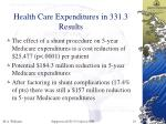 health care expenditures in 331 3 results