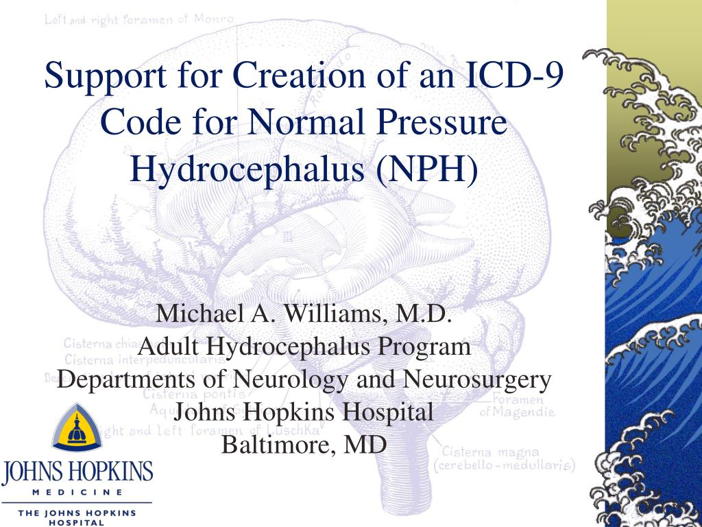 support for creation of an icd 9 code for normal pressure hydrocephalus nph l.