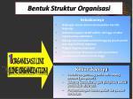 bentuk struktur organisasi