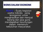bisnis dalam ekonomi