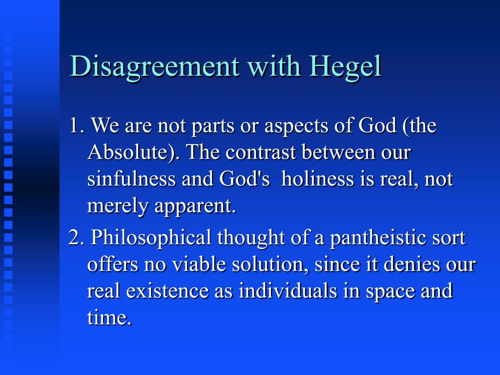 Disagreement with Hegel