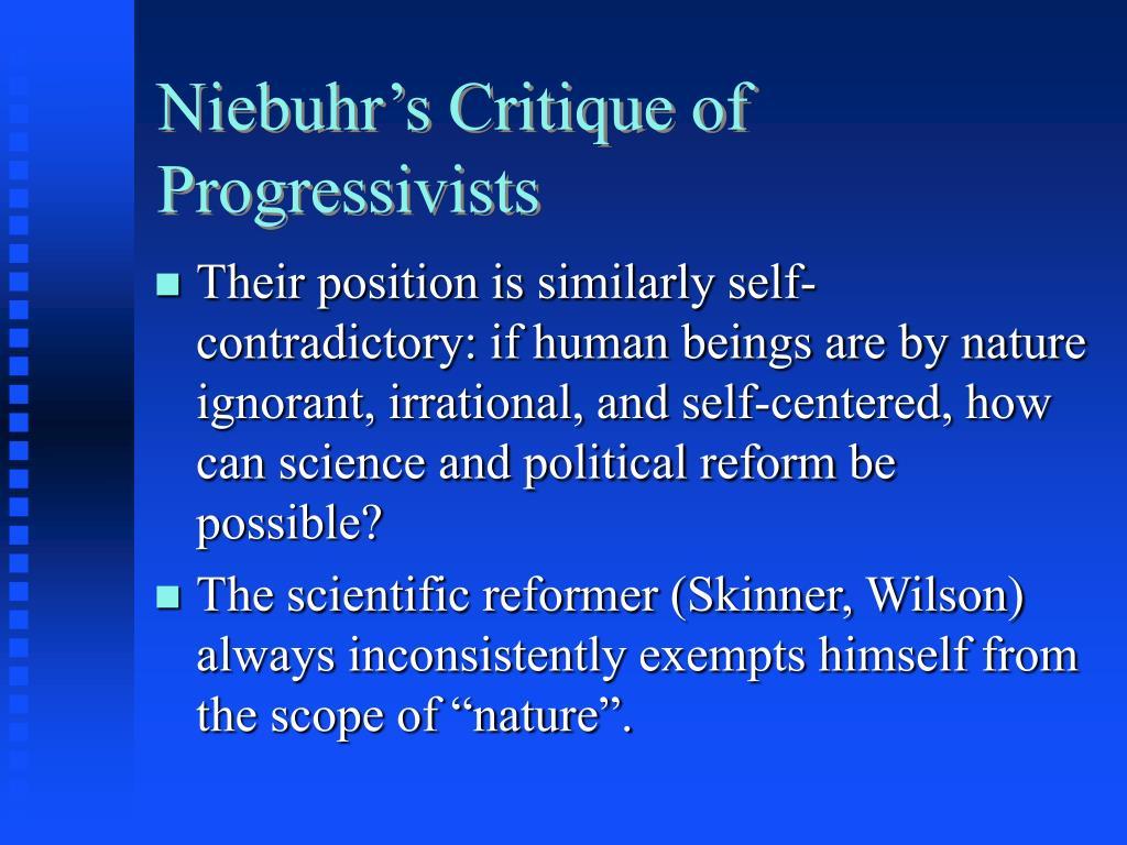 Niebuhr's Critique of Progressivists