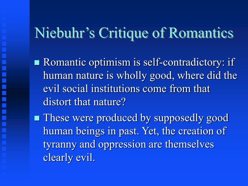 Niebuhr's Critique of Romantics