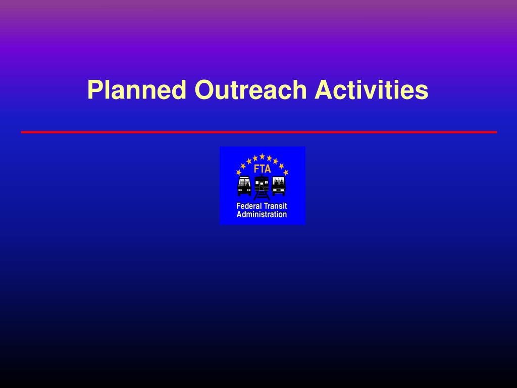 Planned Outreach Activities