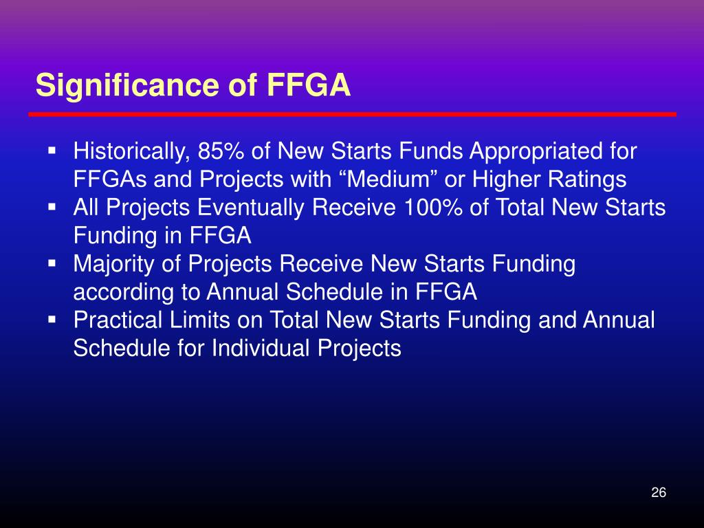 Significance of FFGA
