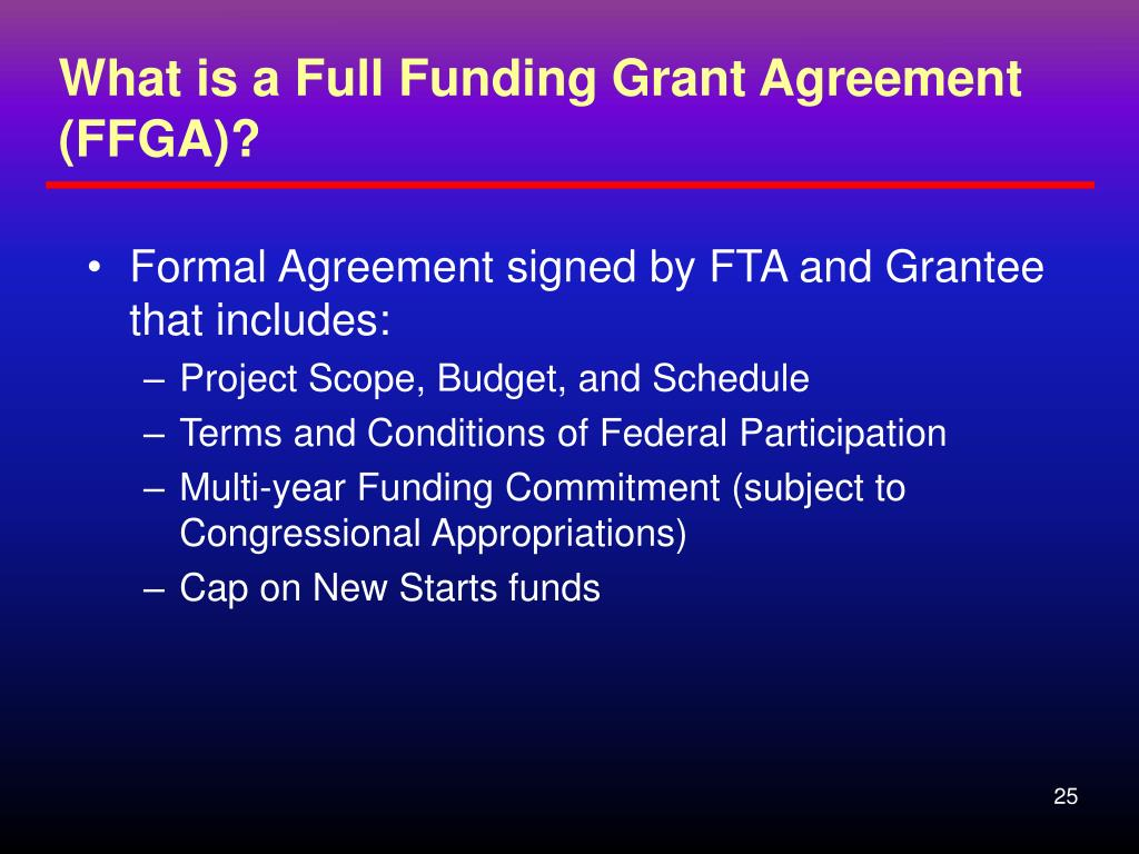 What is a Full Funding Grant Agreement (FFGA)?