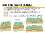 dip slip faults cont