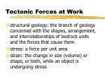 tectonic forces at work