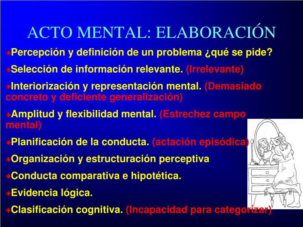 ACTO MENTAL: ELABORACIÓN