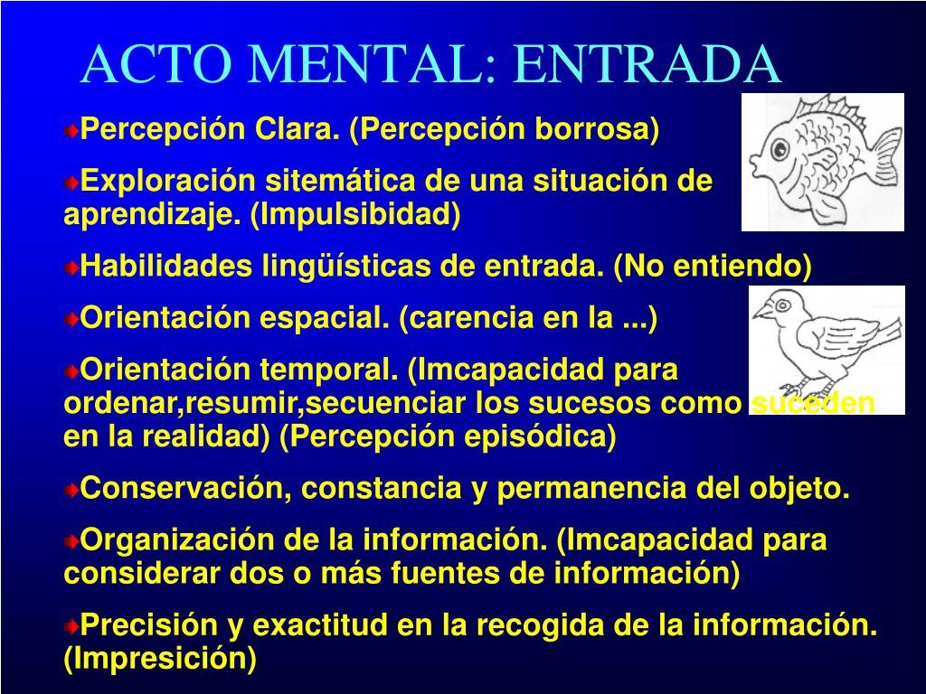 ACTO MENTAL: ENTRADA