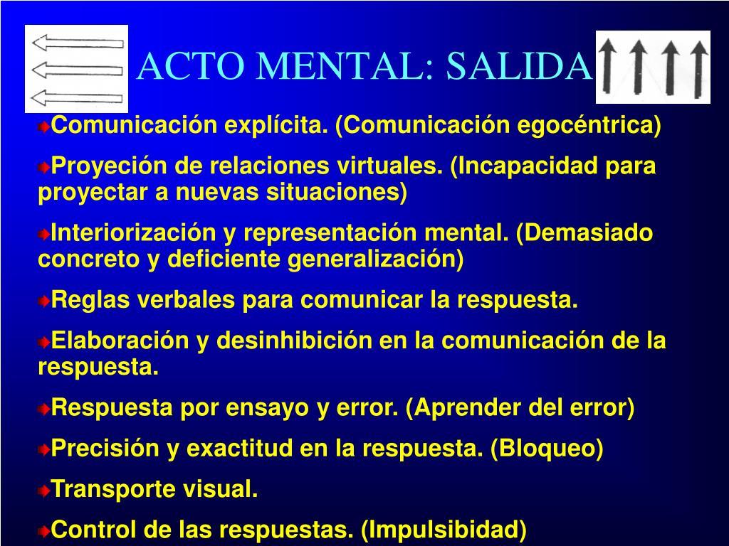 ACTO MENTAL: SALIDA