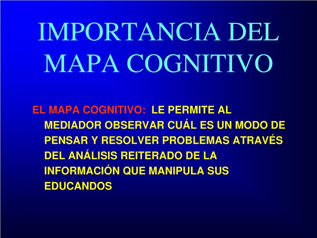 EL MAPA COGNITIVO: