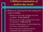 a biblical examination of modern day trends29