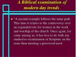 a biblical examination of modern day trends30