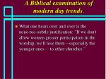 a biblical examination of modern day trends31