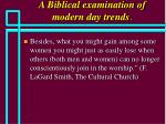 a biblical examination of modern day trends33