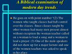 a biblical examination of modern day trends40