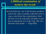a biblical examination of modern day trends41