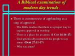 a biblical examination of modern day trends61