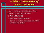 a biblical examination of modern day trends64