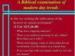 a biblical examination of modern day trends66