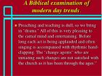 a biblical examination of modern day trends68