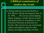 a biblical examination of modern day trends75